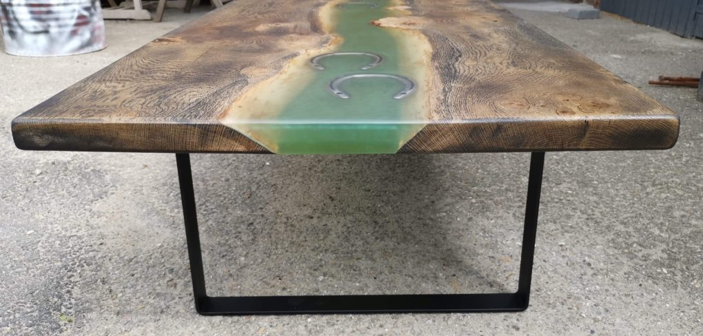 rivertable og epoxybord fra raw circle